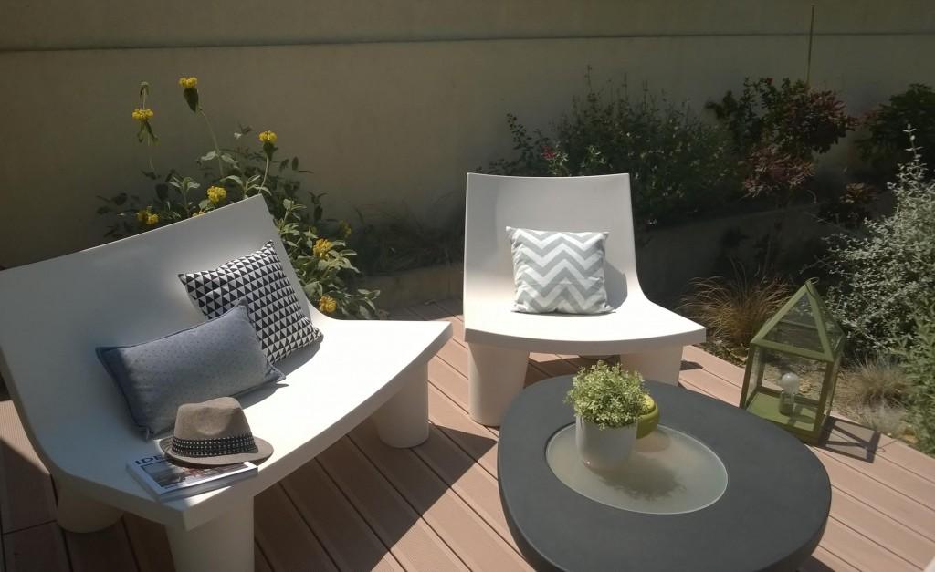 terrasse bois composite fauteuil low lita