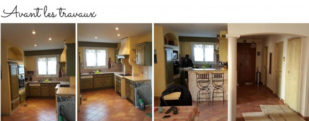 renovation cuisine noir blanc avant travaux