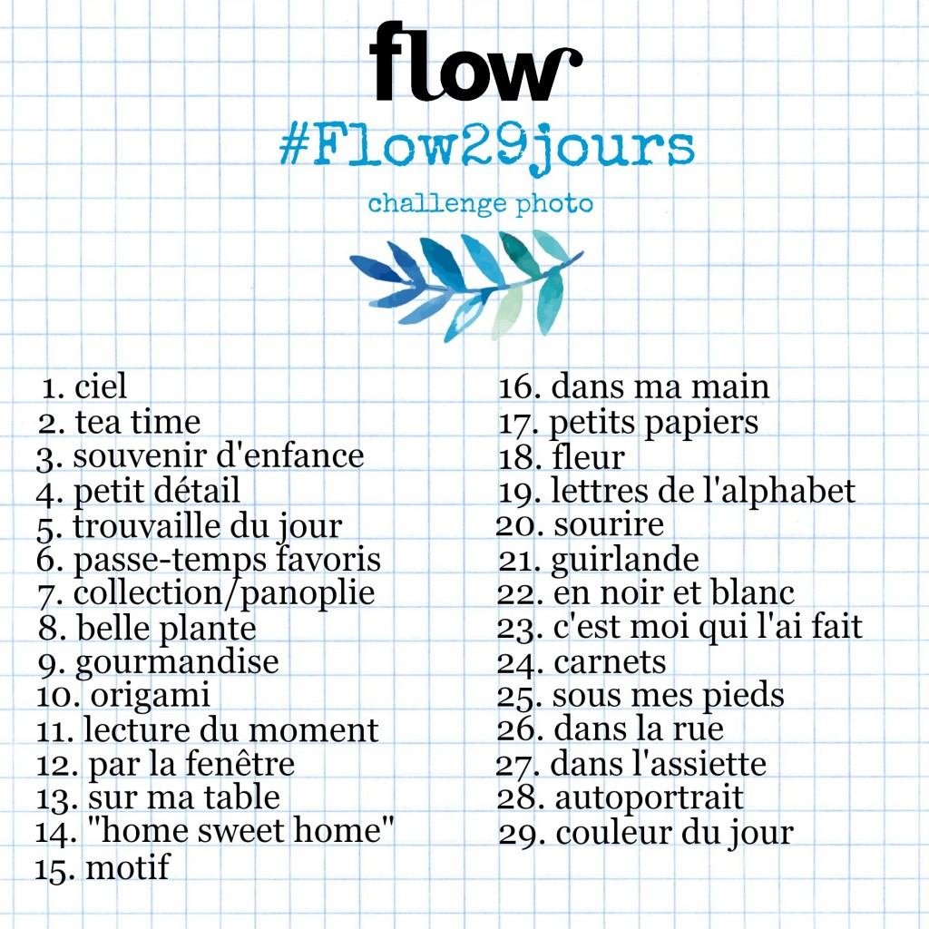 #flow29jours challenge photo