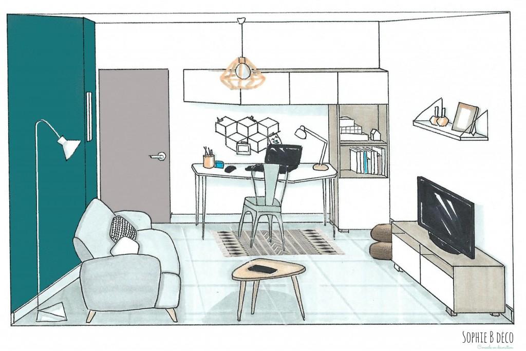 Un bureau au style scandinave et industriel - Petit bureau style scandinave ...