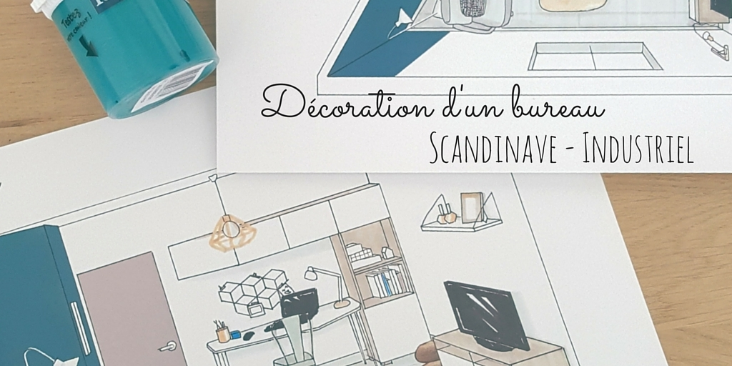 un bureau au style scandinave et industriel. Black Bedroom Furniture Sets. Home Design Ideas