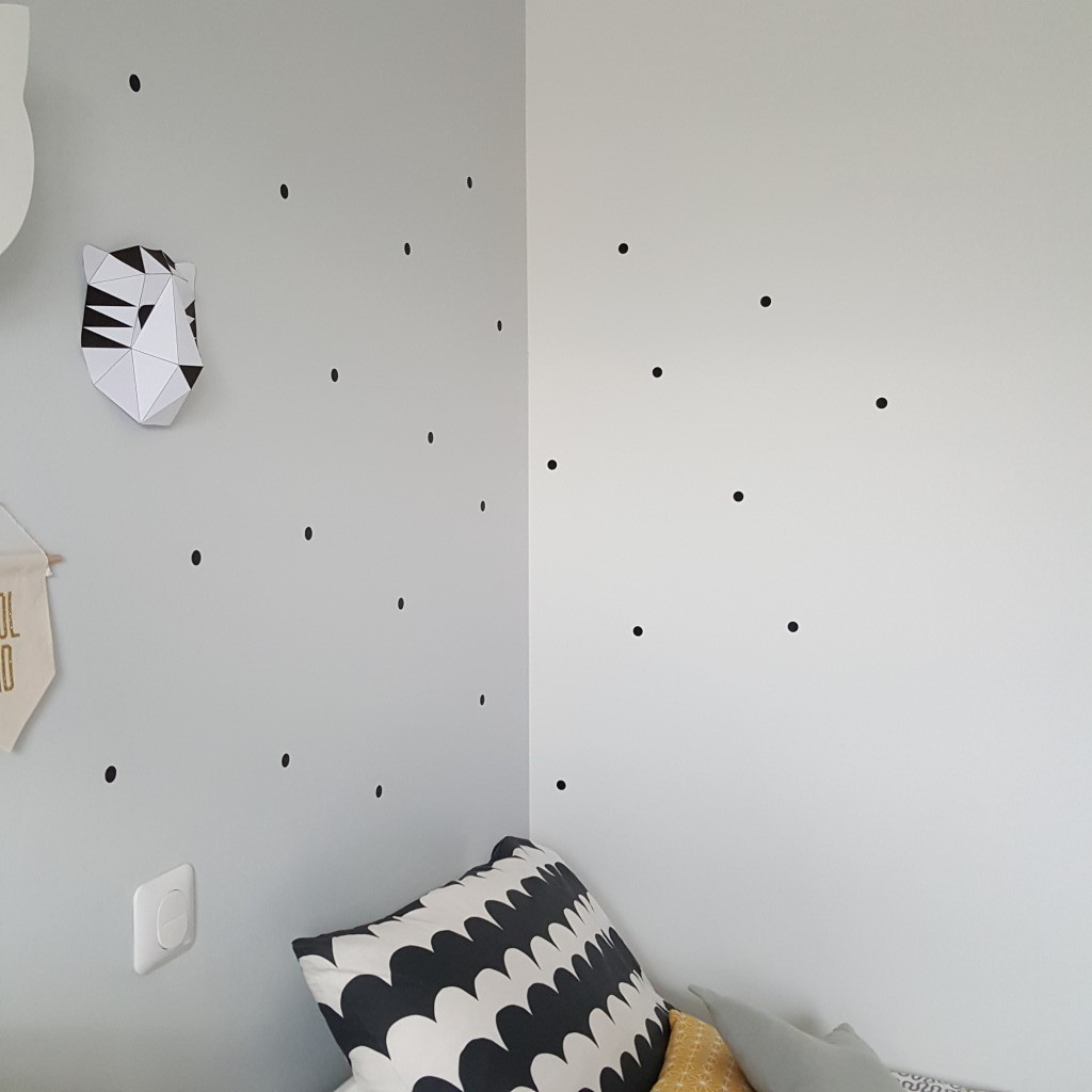 diy stickers pois dots noir