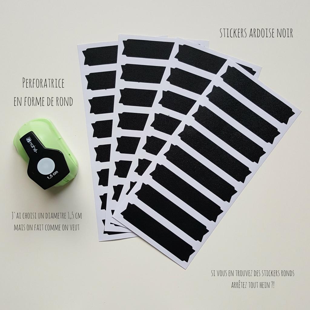 diy stickers pois dots noir
