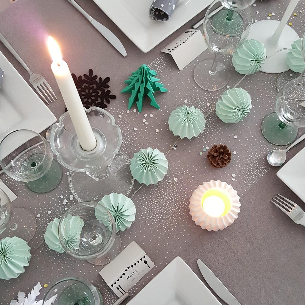 décoration noël table