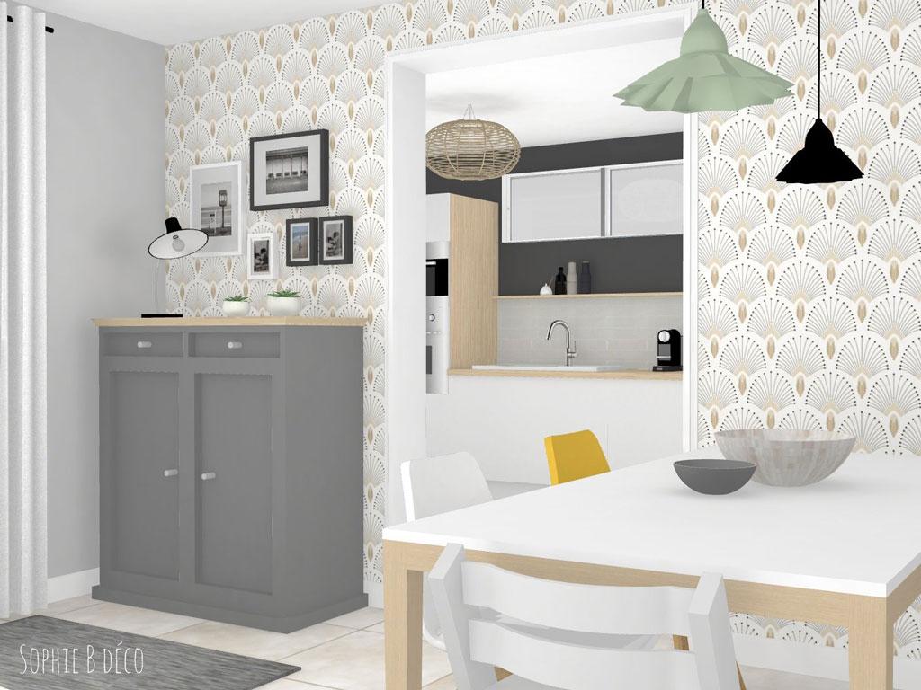 aménagement espace couleurs décoratrice d'intérieur sophiebdeco