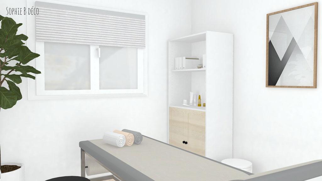décoration choix couleurs rendu 3d cabinet médical scandinave sophiebdeco