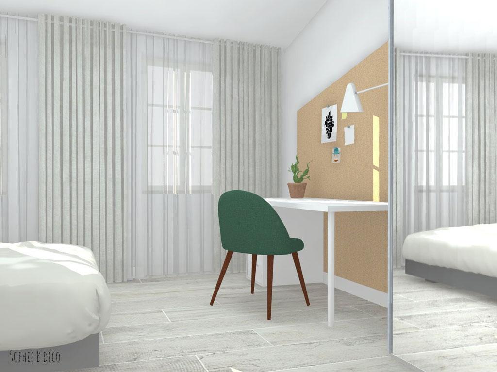 aménagement et décoration chambre colocation sophiebdeco