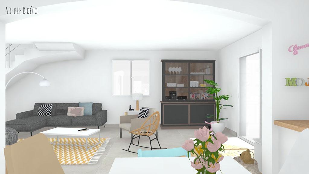 aménagement maison familiale moderne décoratrice sophiebdeco
