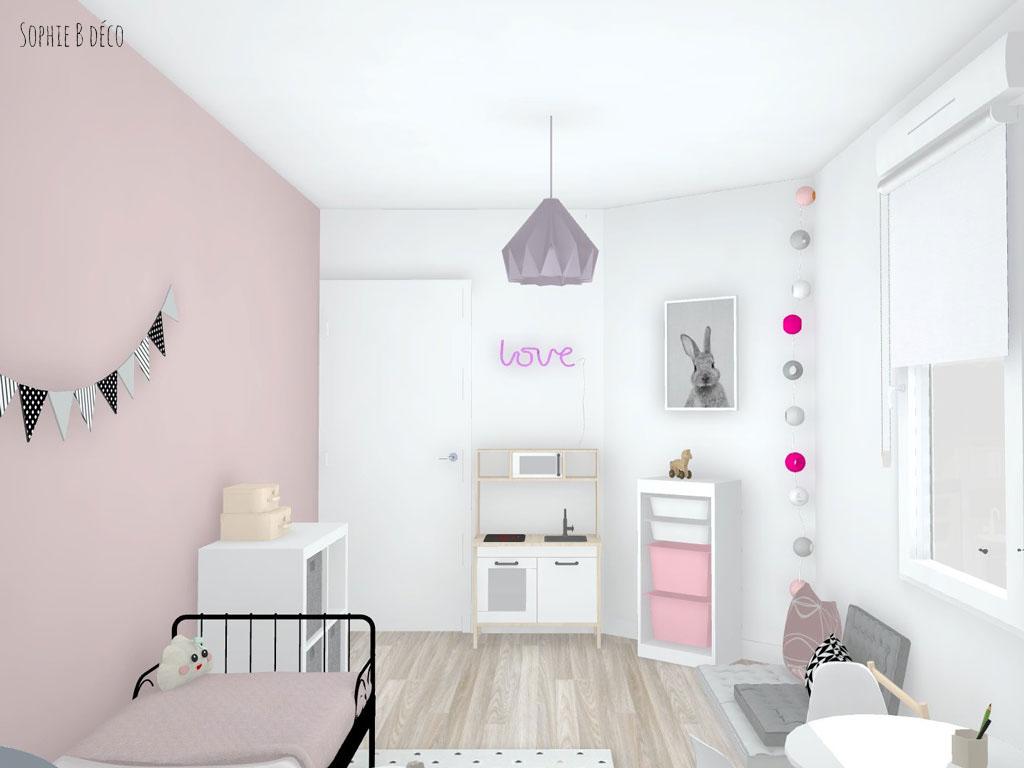 décoration chambre fille enfant scandinave pastel